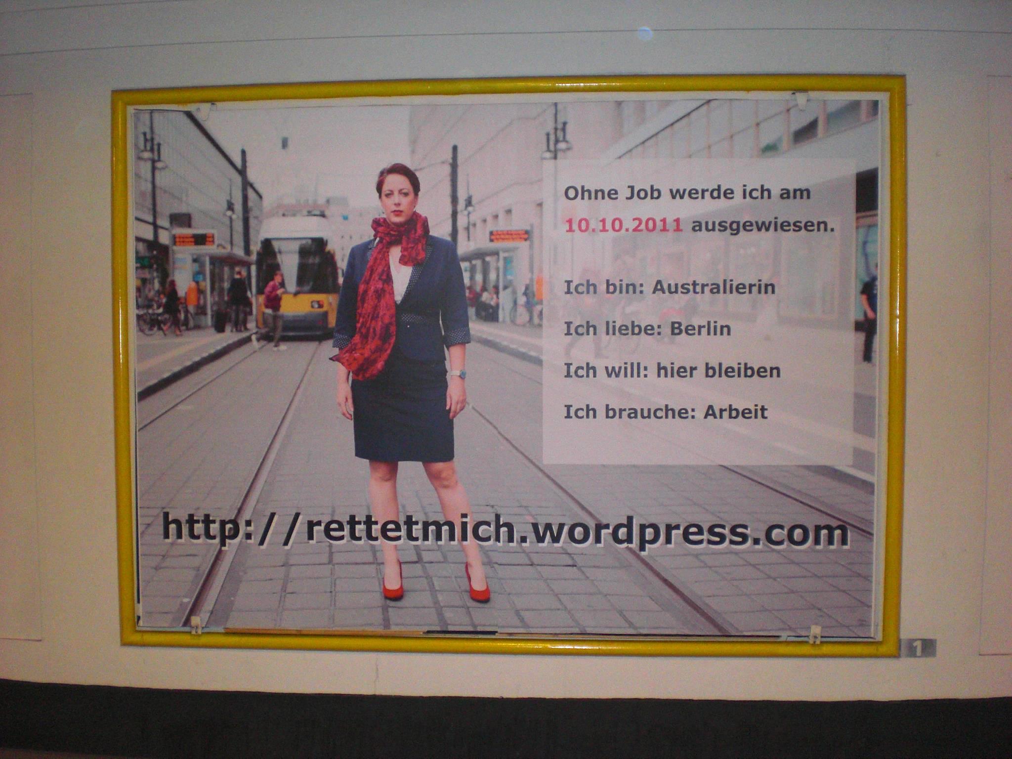 Kerrys Plakat im U-Bahnhof Kochstraße (U6) | Berlin Mitte