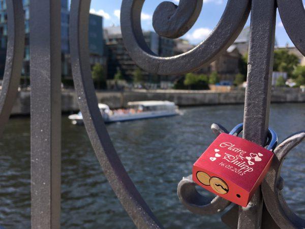 Liebesschloss an der Marschallbrücke in Berlin-Mitte – Foto: Lydia Herms
